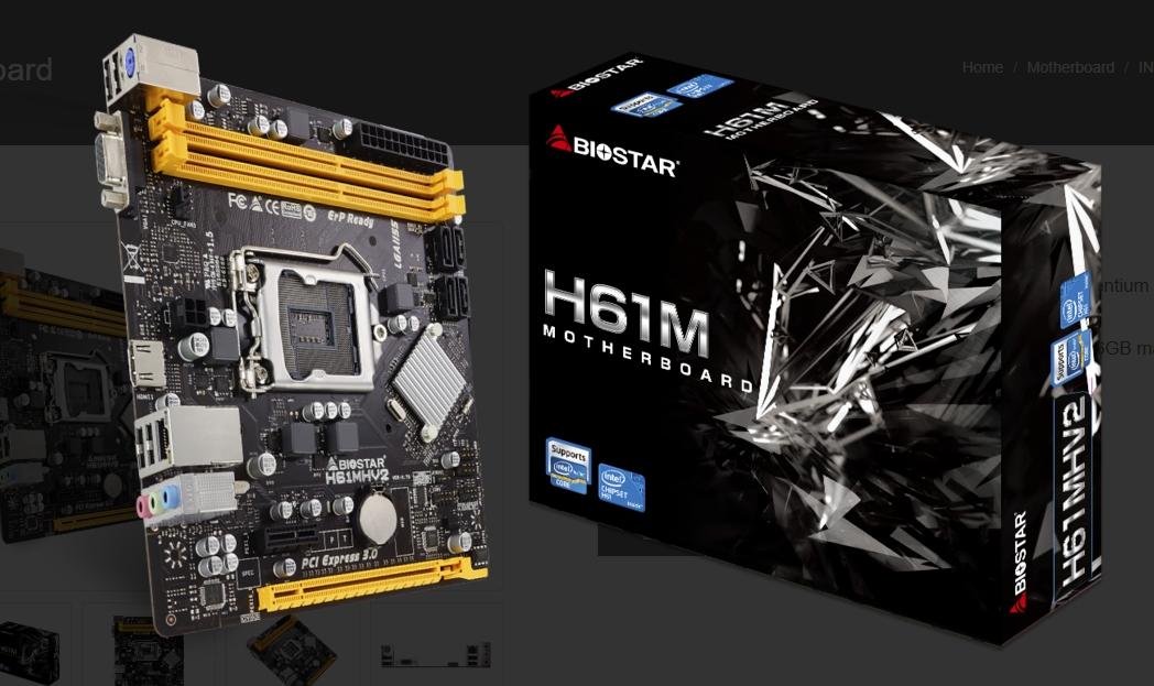 Da Biostar una scheda madre per processori intel di 2° e 3° Gen.