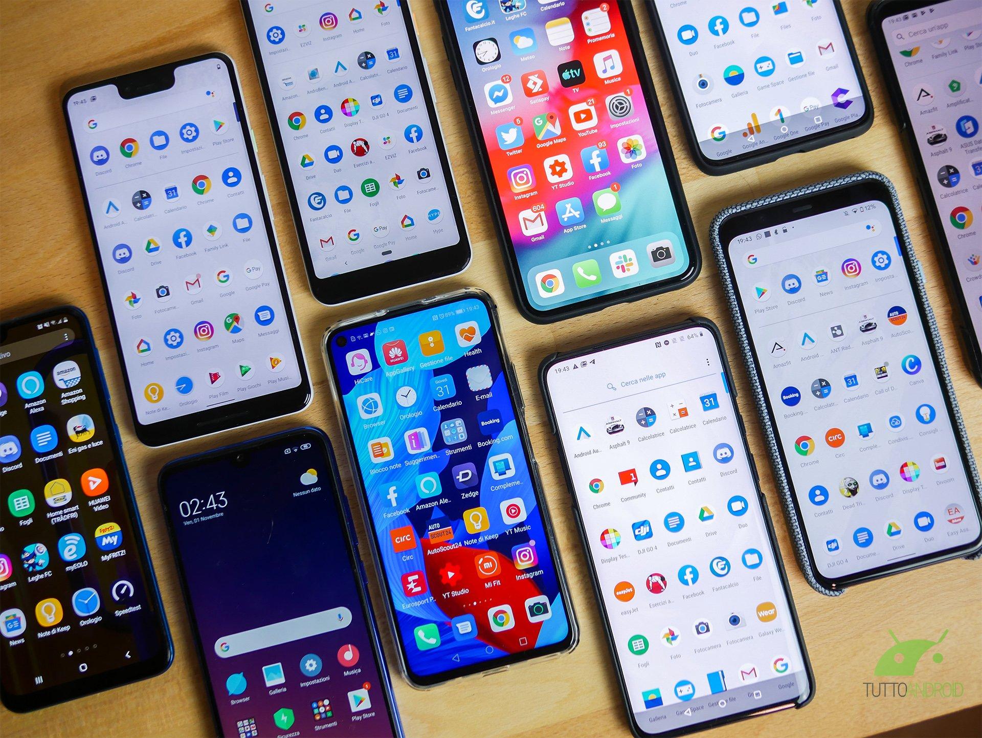 Crolla il mercato degli smartphone: -38% le consegne.