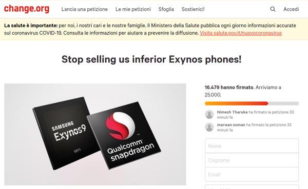 Per gli utenti Samsung, stop agli Exynos