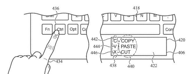 Apple pensa a display nella trackpad e nella tastiera.