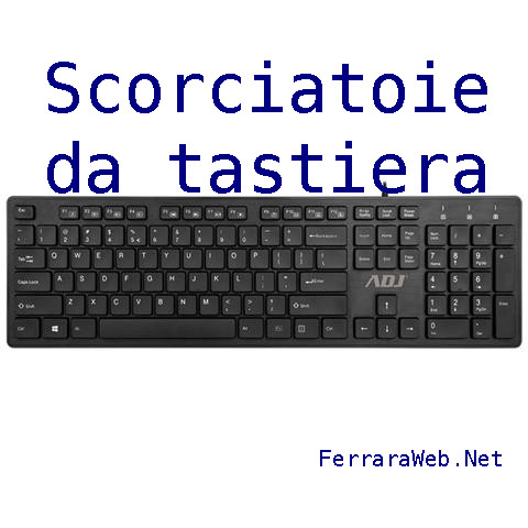 L'INFORMATICA PER TUTTI: Scorciatoie da tastiera